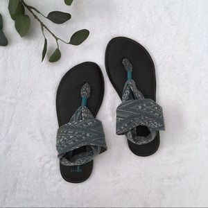 Sanuk yoga sling sandals tribal print